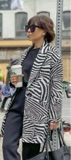 Zara Oversized Blazer Coat In Animal Zebra Print Size M UK 12 Bnwt