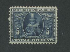 1907 US Stamps #330 5c Mint Hinged F/VF Original Gum Jamestown Exposition Issue