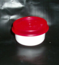 New~Tupperware Smidget White with Red Seal~1 oz~7 available