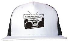 Boom Box Old School Radio Silhouette Trucker Hat Cap Adjustable