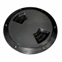 "Sea Dog Abs Deck Plate Black Textured 8"" Quarter Turn To 336187-1"