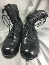 Vintage Mens RO-SEARCH WELLCO Black Leather Canvas Military/Work Combat Boots 8R