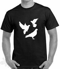 KEEP CALM AND RACE PIGEONS Mens Joke Funny Bird Fancier Pigeon Racing T Shirt