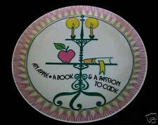 Apple Book Cook Taste Setter Artist Lemeau Plate Mid Century Modernism Eames