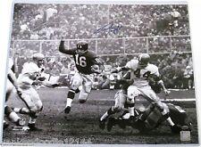 FRANK GIFFORD Signed 16x20 Photo NY Giants Football Auto LEAF COA