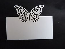 ELEGANT BUTTERFLY TABLE PLACE CARDS x 10 WEDDINGS PARTIES BIRTHDAYS CELEBRATIONS