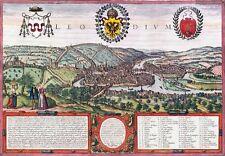 Reproduction plan ancien de Liège (Luik) 1572