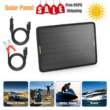 10W 12V Solar Panel  Trickle Charge Battery Charger Kit For Maintainer Boat Car