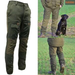 Game Scope Mens Waterproof Mesh Lined Hunters Green Trousers   Multipocket Pants