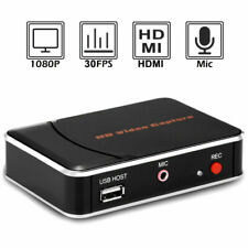 HDMI Video Capture Card 1080P HD Game Recorder with Mic-in for PS4 Xbox One WiiU