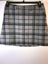 Nike 6 gray plaid golf skirt skort
