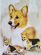 "Premier Designs ""Welsh Corgi"" decorative 12 x 18 garden size dogs flag"