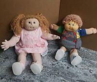 Vintage 1984 Cabbage Patch Kids Lot CPK Doll Boy & Girl Loop Hair Dimple Xavier