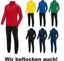 JAKO Classico Trainingsanzug Polyesteranzug Jogginganzug mit Flock optional