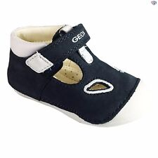 0c815efe0c Geox B Tutim B. A Boys Navy / White Suede Leather Infant Shoes Size 19