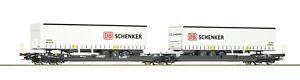 Roco H0 77390 Doppeltaschen-Gelenkwagen T3000e Schenker Kombiverkehr - NEU + OVP