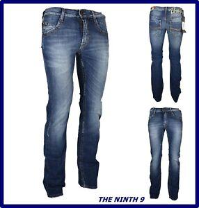 jeans da uomo elasticizzato slim fit a zampa svasati gamba dritta bootcut dritti