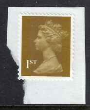 GB = QE2 era, Gold 1st NVI FORGERY on small piece. Photo Negative appearance.