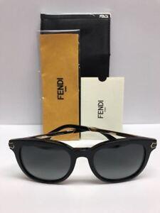 FENDI FF 0021/S 7US90 Black Sunglasses Made in Italy Authentic COA & CASE