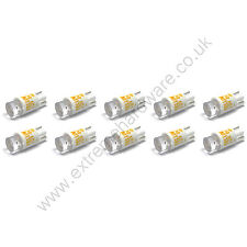 10 x Yellow 12v 10mm T10 Wedge Base LED Bulbs for Arcade Push Buttons - MAME
