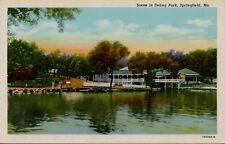 VTG Scene in Doling Park in Springfield Missouri MO Postcard