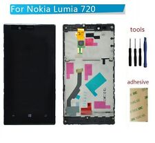 For Nokia Lumia 720 LCD Display Touch Screen Digitizer & Bezel Frame Assembly