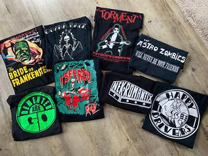 ° Psychobilly 8 x T-Shirt M Frenzy Nekromantix Torment Demented are go...Punk