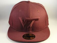 Virginia Tech Hokies NCAA New Era 59FIFTY Fitted Hat Cap Size 7 Maroon