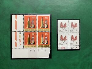 South Africa stamps Collection. Control Blocks X 2. Mint. Very Collectable.