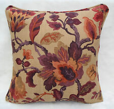 "Sanderson Fabric Cushion Cover  ""Amanpuri"" Old Gold/Aubergine  100% Linen"
