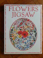 "NOS 1995 USBORNE Flowers Oval 400 Piece Jigsaw Puzzle 25"" Tall SEALED"