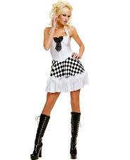 New Small/Medium Women's Sexy Race Car Dress Adult Halloween Costume