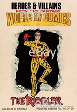 DC Comics HEROES & VILLAINS New Zealand Gum Card POSTER - RIDDLER Batman