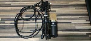Auna MIC-900B USB Kondensator Mikrofon mit Tisch Ständer und 3 Meter USB Kabel