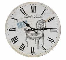 Orologio Parete Paris Decorativo Rotondo Campagna Antico Appendere L'Orologio