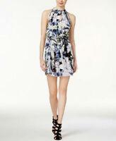 Kensie Women's Tropical Blues Keyhole Dress Size Medium
