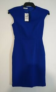 MANGO Suit Smart Cobalt Blue sleeveless Dress Size 8 Ref rail