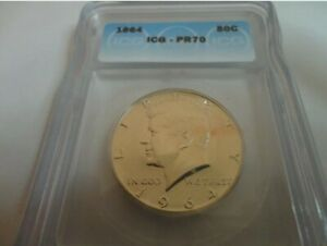 1964-P  Kennedy Silver  half dollar  PR 70 ICG VERY RARE  Not many out there!