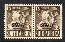 South West Africa SWA 1941 KGVI 1/3d pair SG 120 mint