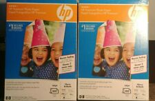 """HP Premium Glossy Photo Paper 4 x 6"""" Pack of 2, 200 Total Sheets Inkjet NEW SEAL"""