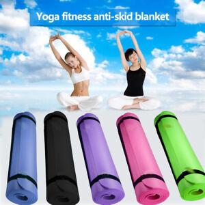 Rutschfeste Yogamatte 10mm Dicke PilatesGymnastikübung Trainingsmatte 183 x 61cm