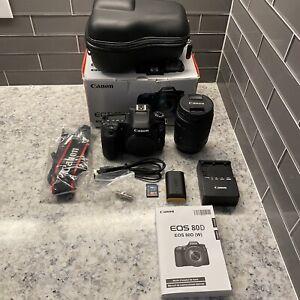 Canon EOS 80D Bundle with EF-S 18-135mm Lens - 1220 Low Shutter - Travel Case