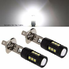 1 Pair 50W DC 12V H1 3030 15 LED 6000K White Super Bright LED Fog Lights Bulb