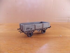 SLATERS KIT BUILT 4-PLANK OPEN WAGON No W123510 in BR Grey Livery. O Gauge