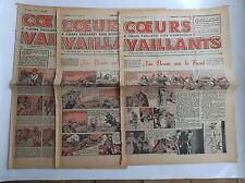 Lot de coeurs vaillants Tintin 1940 ETAT MOYEN