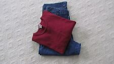 New Riders Stretch Crop Jeans & Christopher Bank Long Sleeve Pull-over Sweater 8