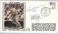 Reggie Jackson Mark McGwire Dual Signed Autographed First Day Cover  JSA U82442