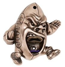 Beer Buddie Wall Mounted Bottle Opener Bronze Rugby Ball Player