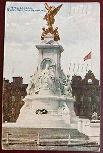 Vintage London Postcard - The Victoria Memorial - 1923 (NO)