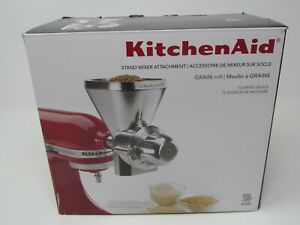 Brand New KitchenAid KGM All Metal Grain Mill Attachment - Silver Stand Mixer